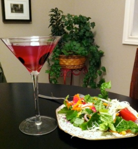 Asian Salad with Cocktail
